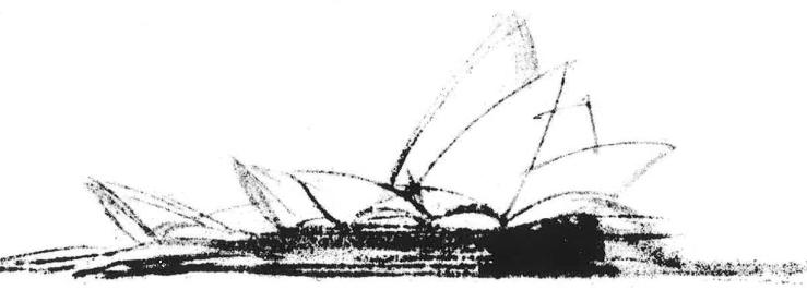 Boceto de Jørn Utzon para la Ópera de Sydney, 1958