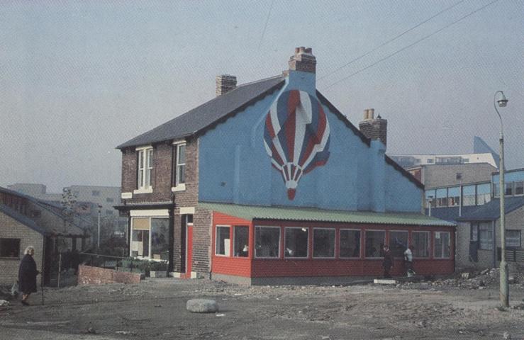 Oficina de la firma de Ralph Erskine en Byker, Newcastle, 1979