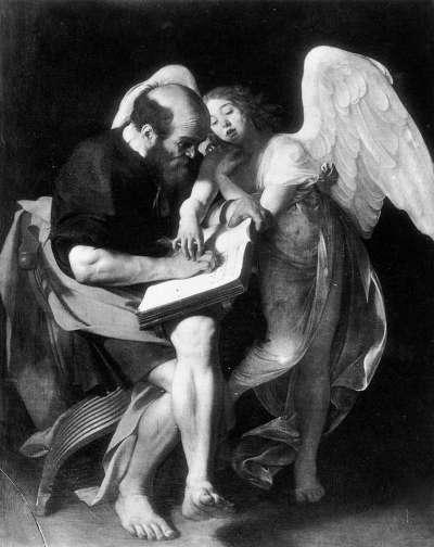 Caravaggio San Mateo y el Ángel 1602
