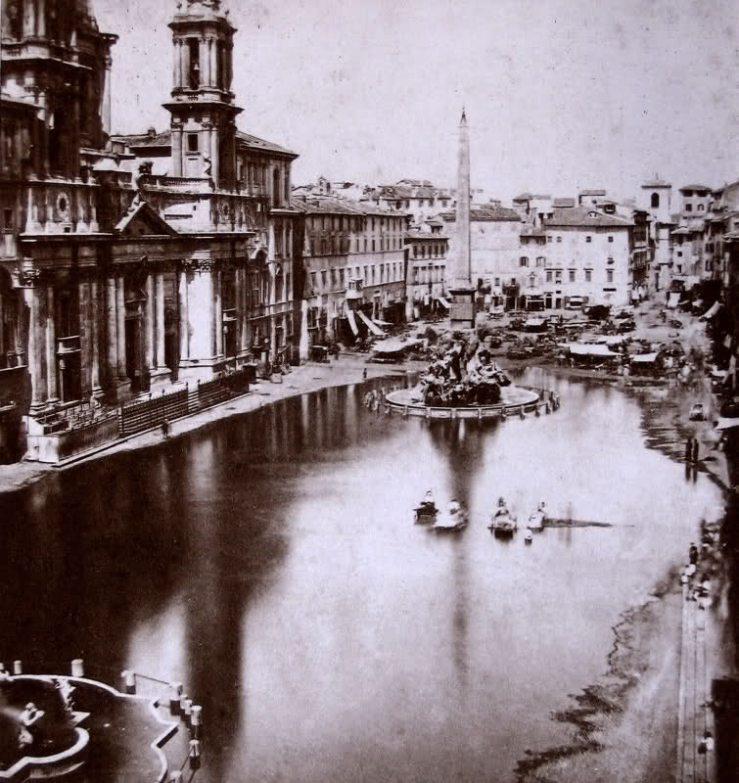 Piazza Navona en verano 1865