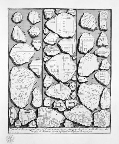 Piranesi Le Antichità Romane fragmentos
