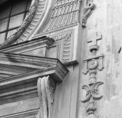Piranesi Santa Maria del Priorato Roma 1764_7 detalle fachada